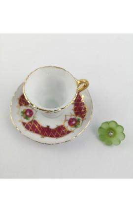 Tazzina Mini in Porcellana con Accessorio Spilla