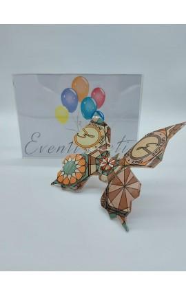 Farfalla Grande Vetro Teodosia Brown Gattinoni